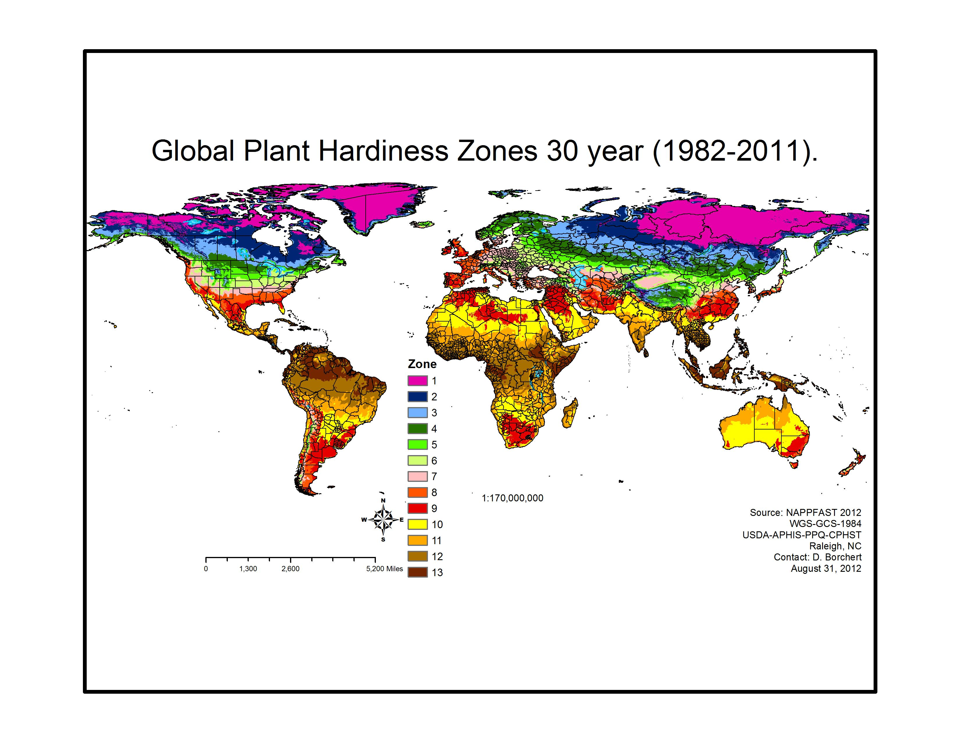 World Hardiness Zone Maps Trace Zone 6 With Your