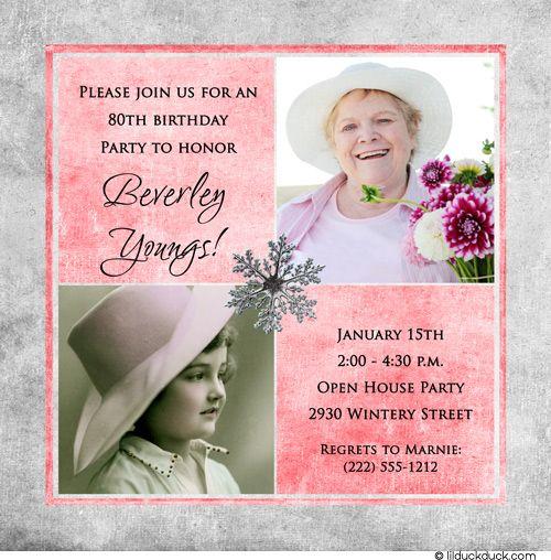 Birthday Invitations 90th
