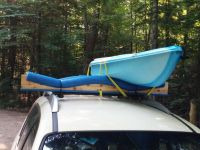 Car Top - 2 Kayak Rack (roof Rack Cars Only) About 30 ...