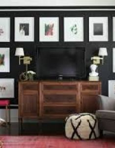 Decorating around  tv console wall mounted how to decorate behind stand flat screen ideas also rh pinterest