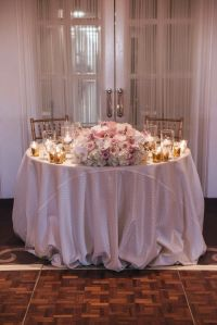 Sweetheart Table Arrangement Centerpiece, Roses, orchids ...