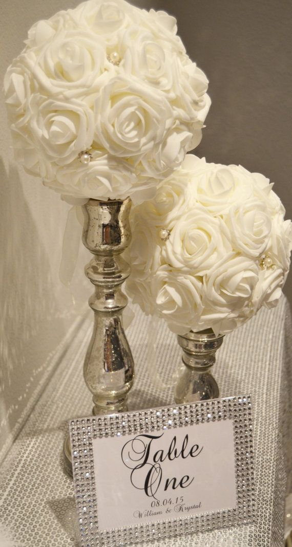 Bling Wedding Centerpieces on Pinterest  Bling Wedding
