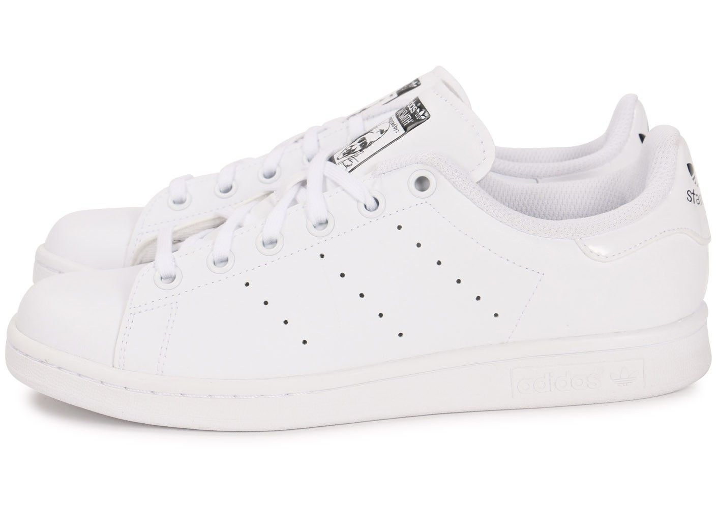 adidas stan smith junior blanche chaussures femme chausport
