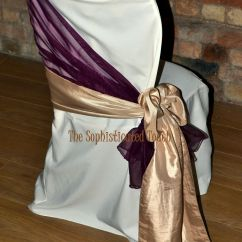 Ivory Chair Covers With Gold Sash White Hanging Egg Stand Burgundy Organza Shawl Satin Side Bow On