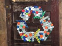 Bottle caps recycle symbol wall sign | recycle symbol ...