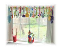 colorful kitchen valance | kitchen curtains window ...