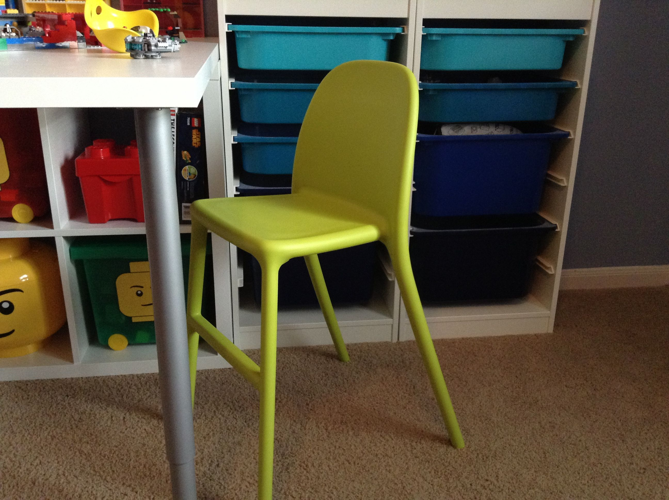folding junior chair birthday cover ikea urban kid stool in green is the perfect height