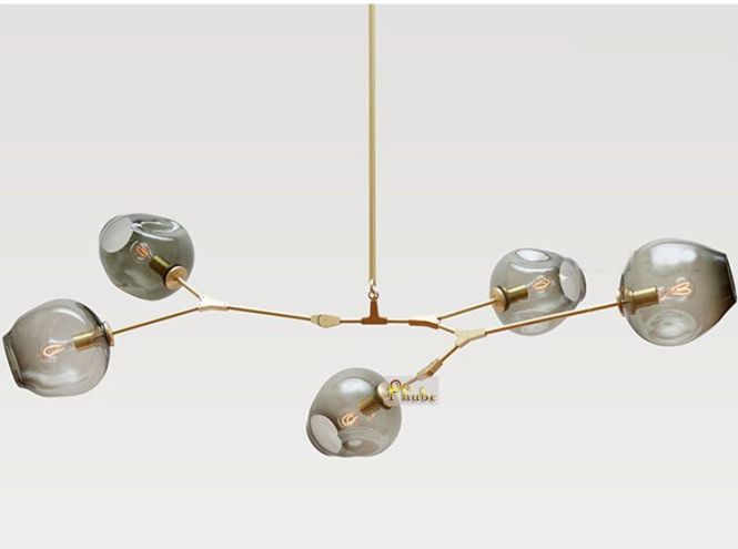 Lindsey Adelman Globe Branching Bubble Chandelier 110v 220v Modern Light Lighting 5 Head Free