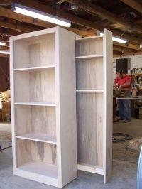 birch bookcase whith hidden gun rack in back | wood ...