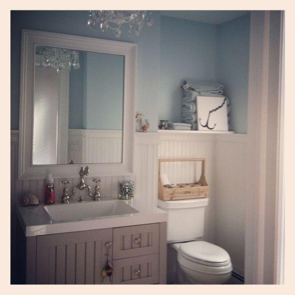 Hanptons Beach Cottage Bathroom #beach #decor #cottagestyle Home