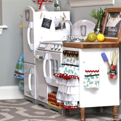 Play Kitchen For Toddlers Glass Backsplash Kids Kidkraft Retro