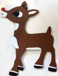Christmas Yard Art Decoration Rudolph Red Nose Reindeer ...