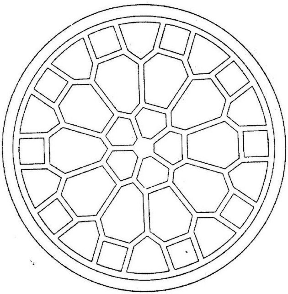 Simple Geometric Pattern Coloring Pages Free To Print