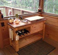 Outdoor Rustic Wooden Cooler Bar - Buffet - Sideboard ...