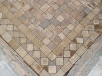stone pavers designs | ... paver pattern Close-up view of ...