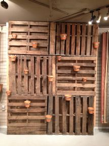 Garden Wall Pallets. Added Air Duct Straps