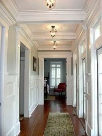 Tray ceilings make a hallway so much more interesting ...