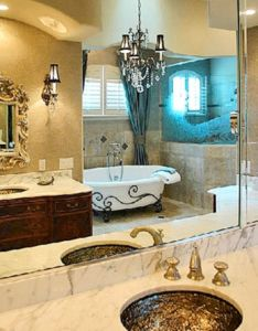 antique and unique mirror feature wall in bathroom also rh pinterest