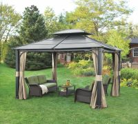 Wonderful Hardtop Gazebo For Backyard Ideas: Iron Hardtop