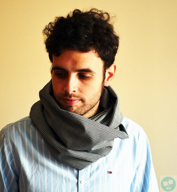 Circle scarf for men. Men's infinity scarf. by