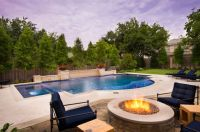 swimming pool with hardscape and landscape ideas | Cool ...