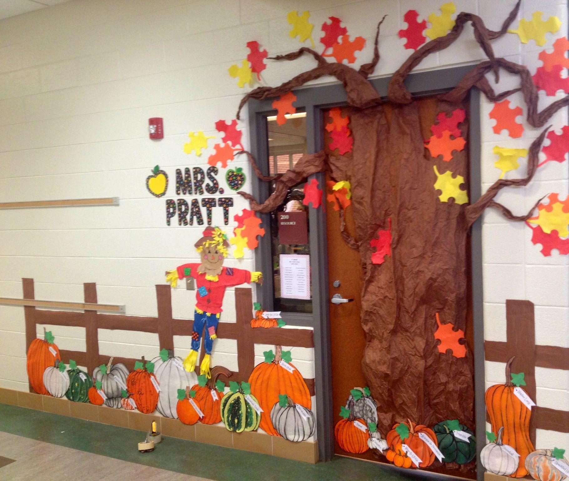 Fall Pumpkin Patch Classroom Door Decoration