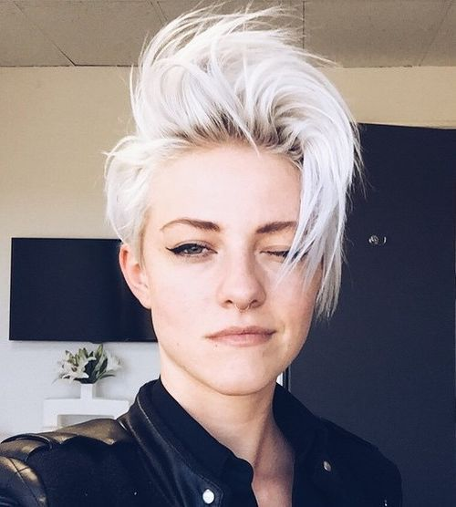 35 Short Punk Hairstyles To Rock Your Fantasy Platinum Blonde