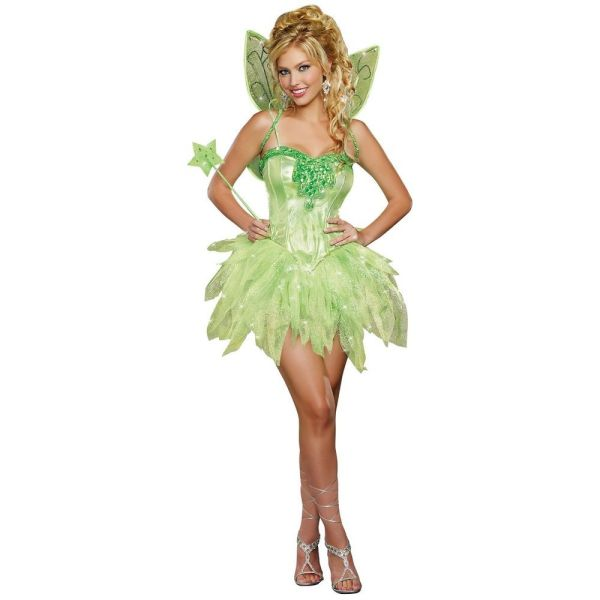 Details about Tinkerbell Costume for Adults Fairy