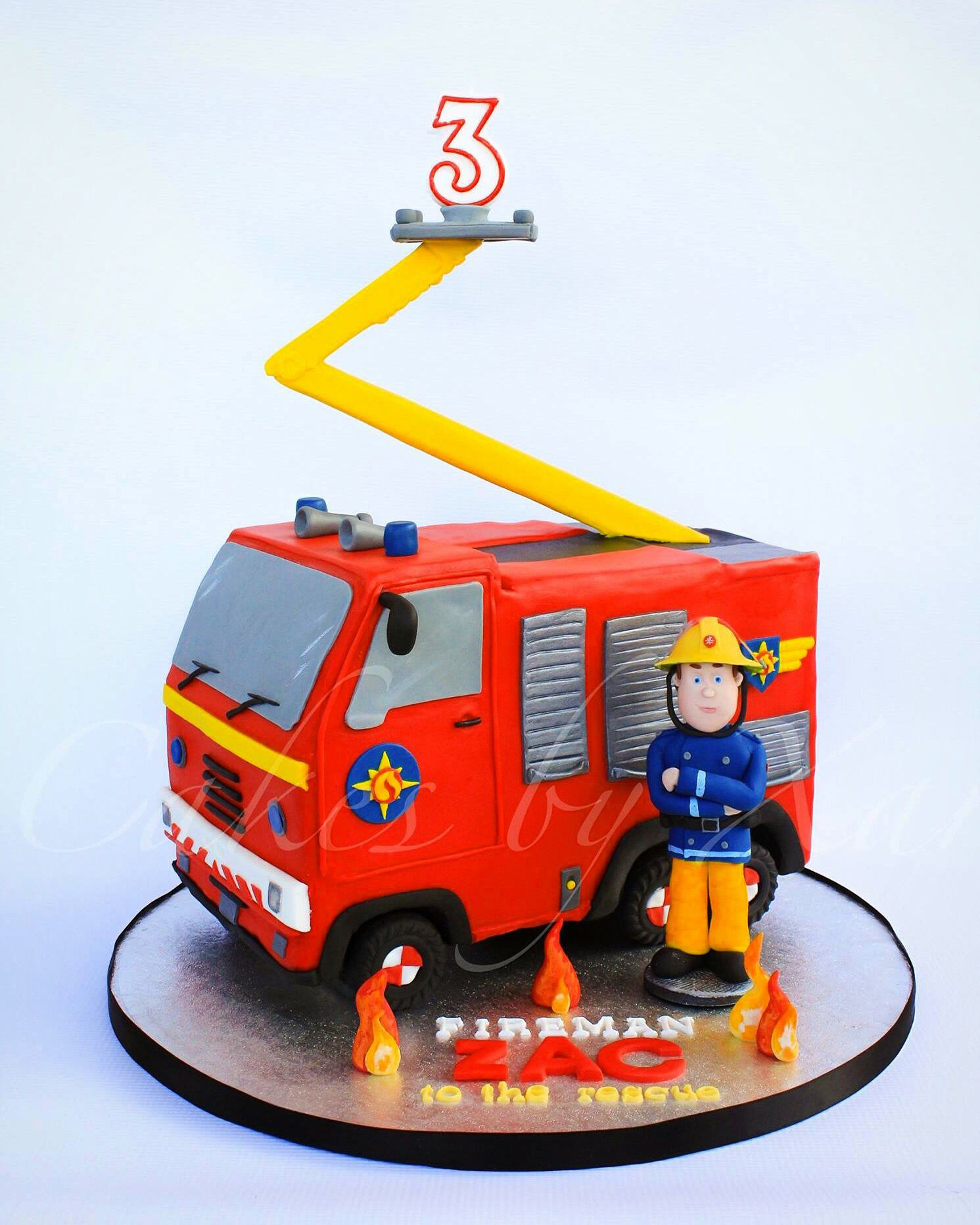 Fireman Sam Cake wwwfacebookcomcakesbyxar  backen  Pinterest  Feuerwehrmann sam