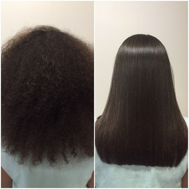 Kerastraight KS Ultimate Before Amp After On Afro Hair