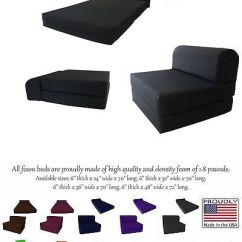 Sleeper Chair Folding Foam Bed Full Size Ethan Allen Mickey Mouse Club And A Half Other Beds Mattresses 122759 Black 6 X