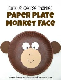Curious George Inspired Paper Plate Monkey Craft (Smashed ...