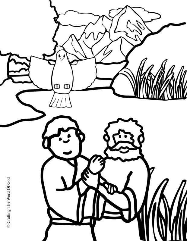 Jesus Baptism (Coloring Page) Coloring pages are a great