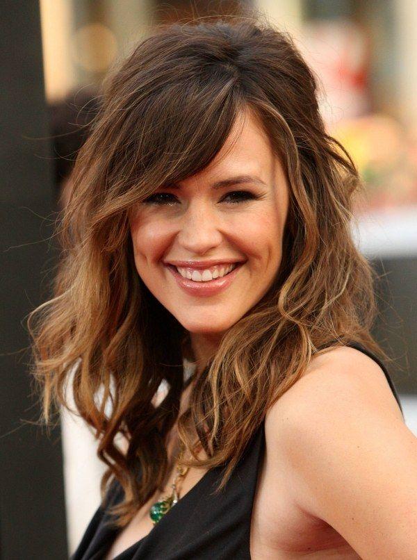 Jennifer Garner Und Ihre Lässige Pony Frisur Haare Pinterest