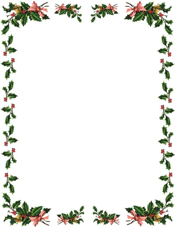 christmas borders and frames clipart