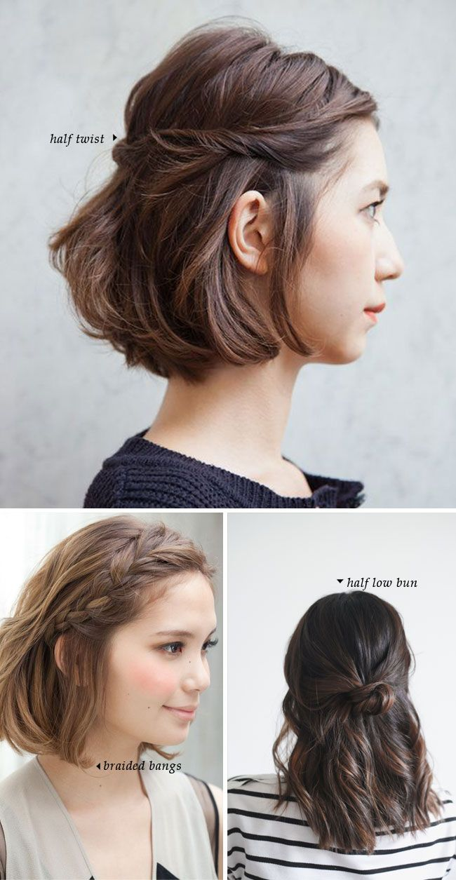 Best 25 Easy short hairstyles ideas on Pinterest  Braids for short hair Short hair hairstyles