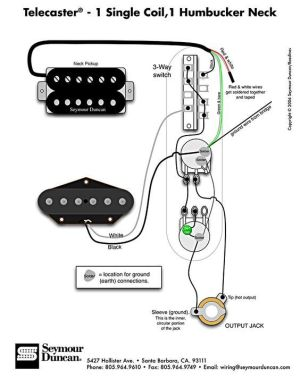 Telecaster Wiring Diagram  Humbucker & Single Coil
