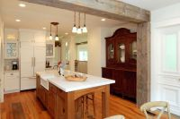 rustic kitchen by AMI Designs - Load bearing wall removal ...