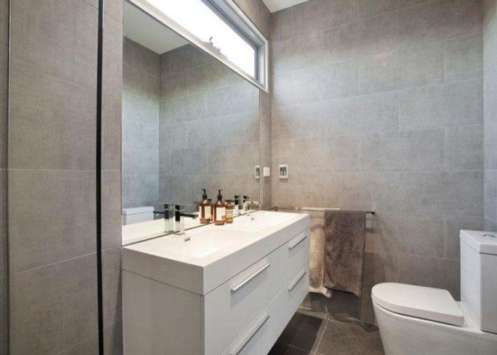 Bathroom ideas  designs and photos also grey tiles small
