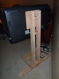 $10 LCD TV Floor Stand | Diy tv, TVs and Board