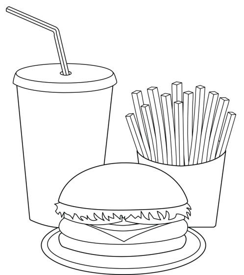 Printable Fast Food Coloring Pages: Printable Fast Food