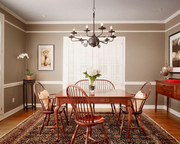 Dining Room with Chair Rail Color Ideas