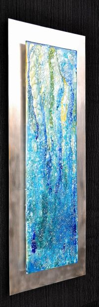 Waterfall Modern Fused Glass Wall Hanging Art on by ...