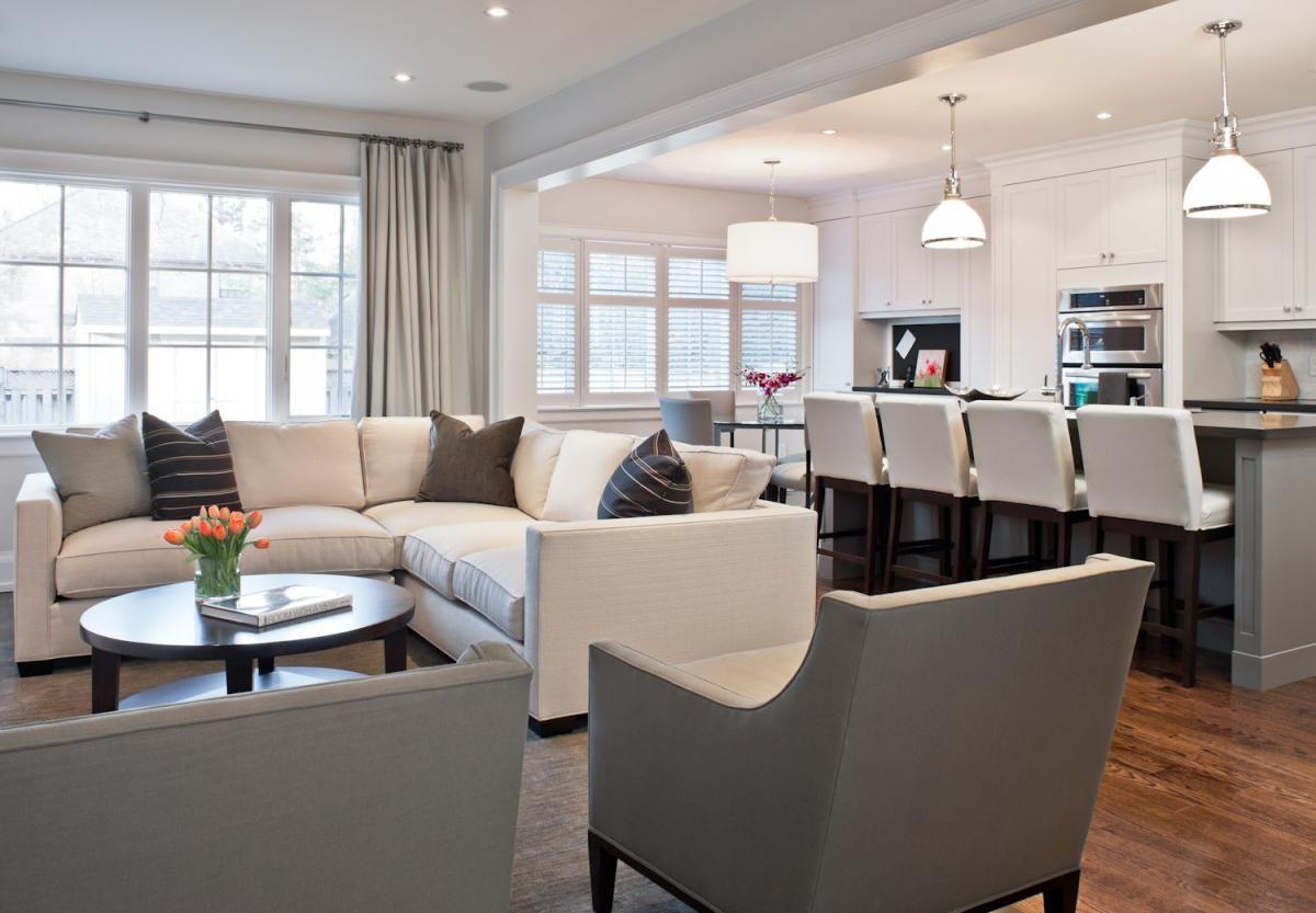 Kitchenliving room combo on Pinterest  Living Room