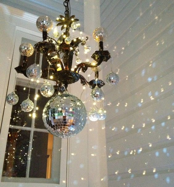 5 Disco Ball Chandelier Diy Antique Gothic Light Fixture Used For Decoration Rice Fairy Led Lights