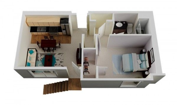Le Plan Maison D'un Appartement Une Pièce 50 Idées Maison