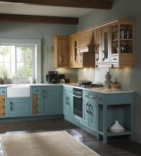 duck egg blue wooden kitchen units - Google Search | For ...