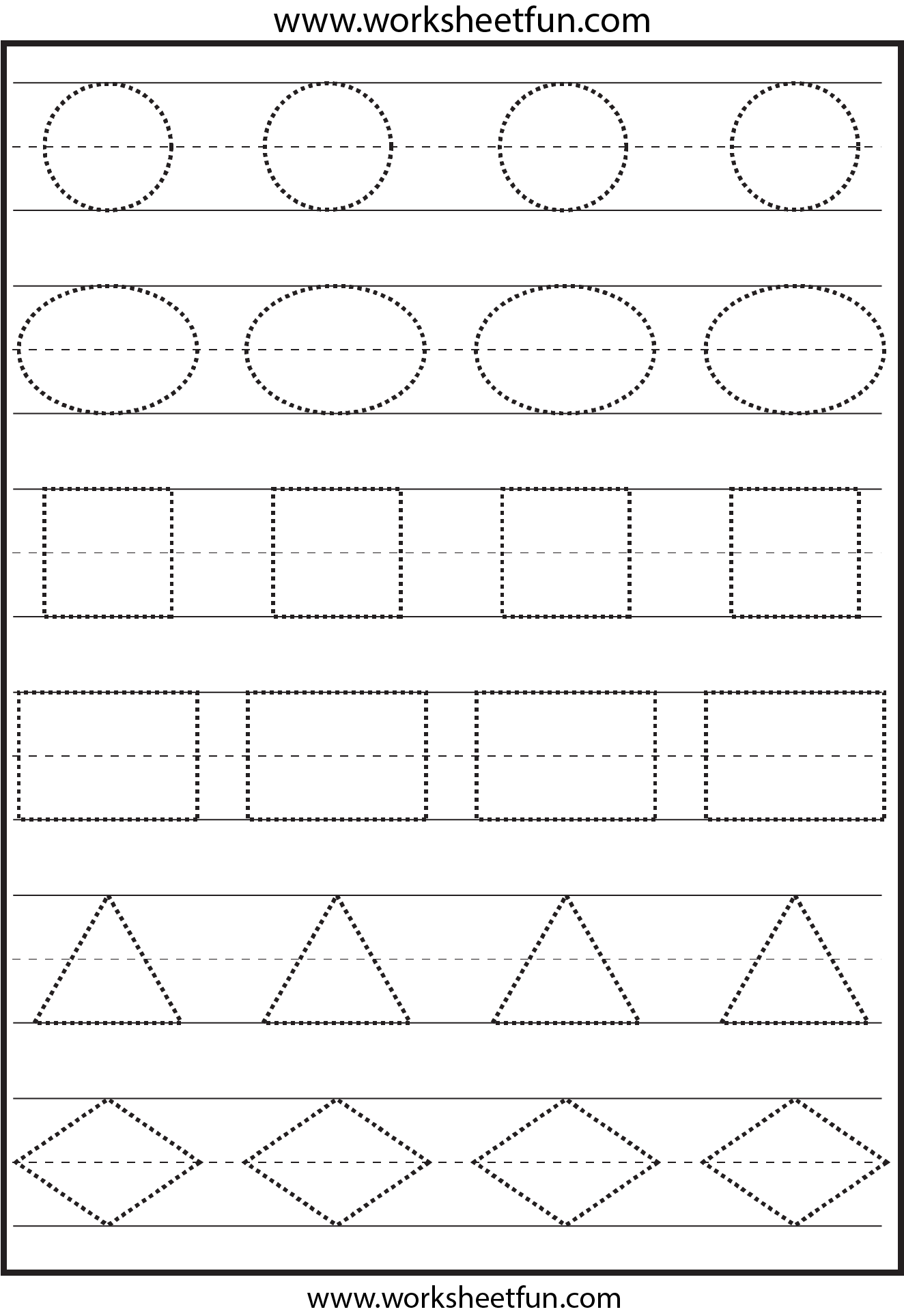Tracing Shapes This Is Not The Right Image The Ones On The Page Were Not Pinnable
