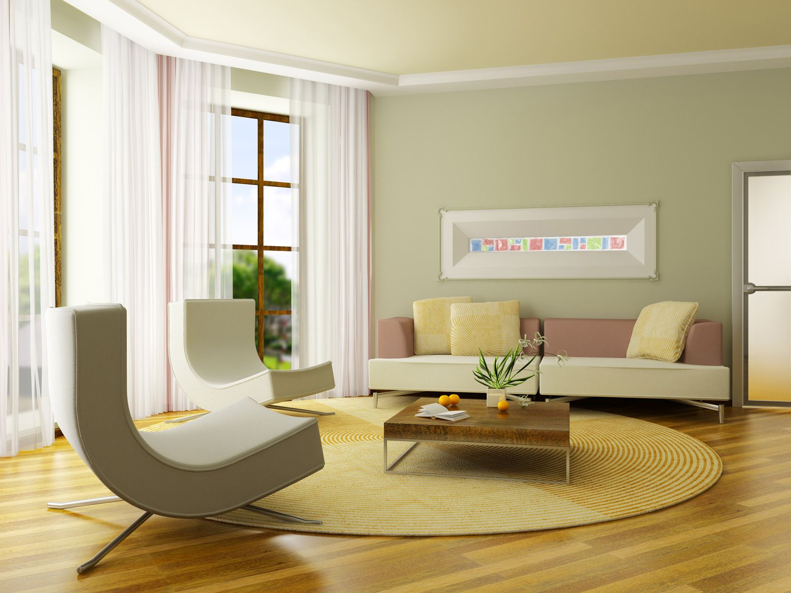 Modern Minimalist Interior Designs For Living Rooms Nice Curtains