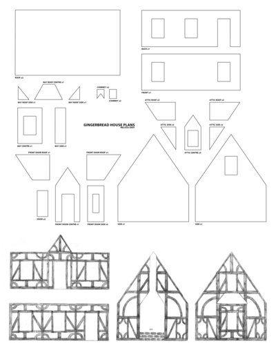 Gingerbread Castle Templates Paper